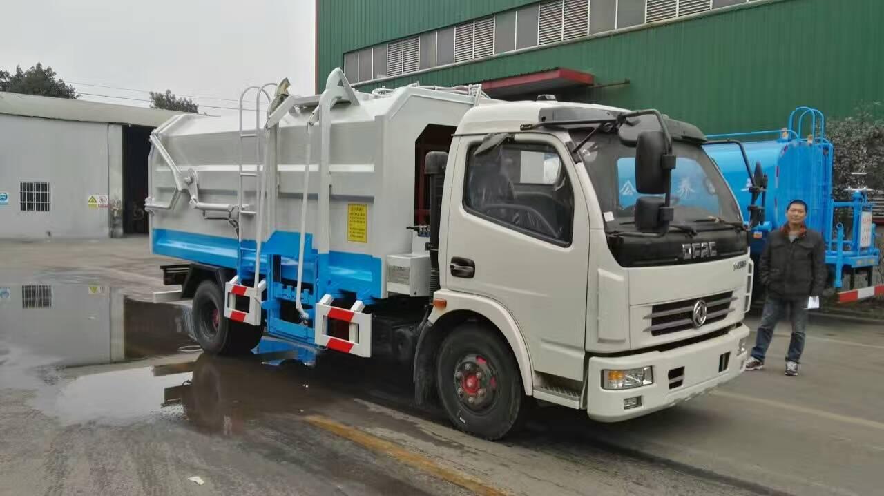 东风大多利卡8方挂桶式垃圾车