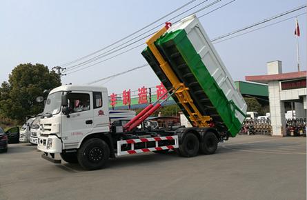 东风御龙25吨勾臂式垃圾车