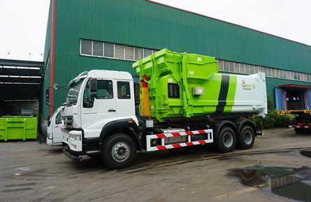 重汽28吨勾臂式垃圾车
