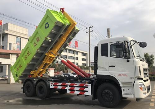 短轴28吨勾臂式垃圾车