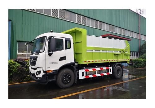 东风天锦LNG自卸垃圾车